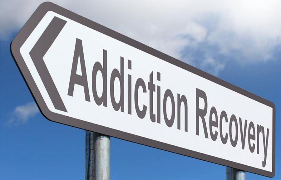 Addiction Recovery signpost
